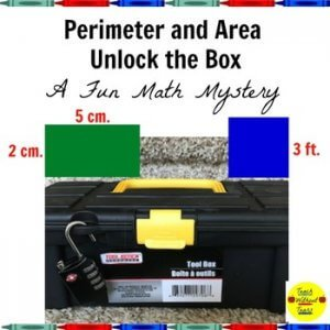 Perimeter and Area unlock the box math mystery. k-5 math teaching resources for teachers in the classroom.