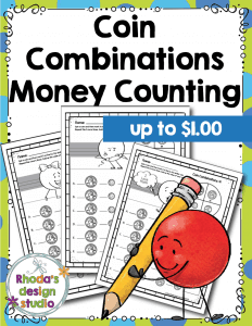 Coin Combinations up to $1.00 Free Worksheets and Activity