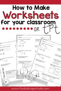 Learn to make math worksheets for your classroom. Worksheet printables can be used to increase engagement, test higher level thinking by finding mistakes, or used for a SCOOT that involves movement. There are many ways to make your own worksheets. Follow this step-by-step tutorial.