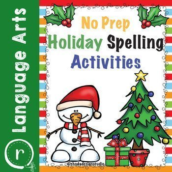 No Prep Christmas spelling activities. Learn to make more money by selling on Teachers Pay Teachers.