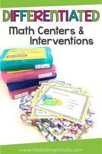 Differentiated math lessons are easy to create with math centers. Provide math interventions that differentiate your instruction and engage your students. Learn to use your testing data to reach all your students at their level.