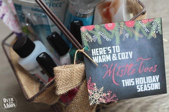 Mistletoe gift basket.