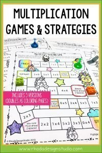 Get a free multiplication game that your child or students can color and play with to practice their facts. Multiplication strategies and ideas for practicing math without timed tests.