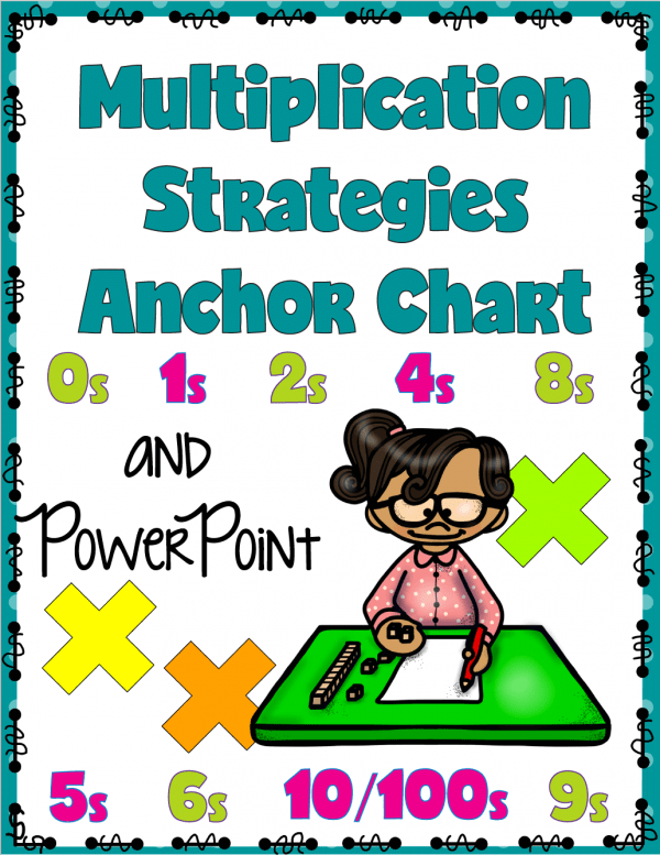 Use this anchor chart to help your child or students with multiplication strategies. Read this post to get ideas for teaching multiplication and a set of free multiplication game printables.