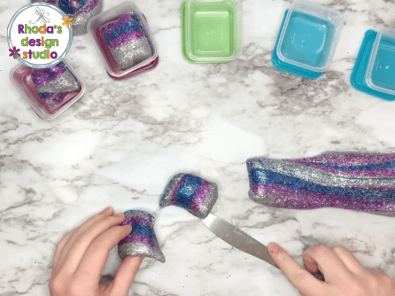 Make glitter slime or unicorn slime with 3 ingredients and these easy to follow directions.