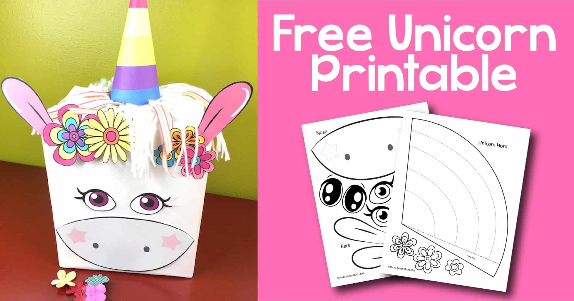 graphic relating to Unicorn Horn Printable identify Uncomplicated Whimsical Unicorn Valentines Box for Pupils and Lecturers