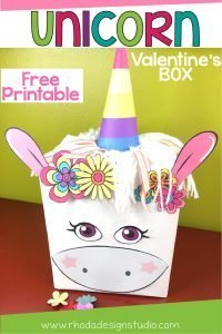 Create a fun and whimsical unicorn Valentines box with this free printable and post. Step-by-step directions will help you make this fun and easy project with your students or children!