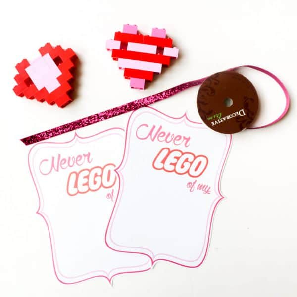 lego heart valentines crafts for science and math lessons