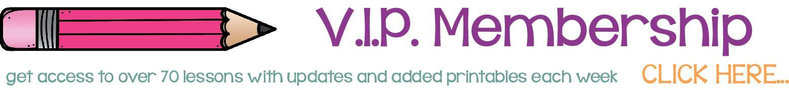 vip membership banner get access to lesson plans and educational resources