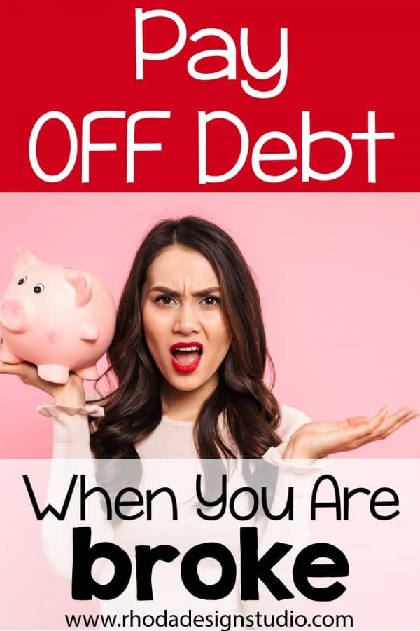 Want to pay off debt but have no money? Here are my best tips for how to pay down your debt and finally become debt free, even if you live paycheck to paycheck and don't have any money to spare each month.
