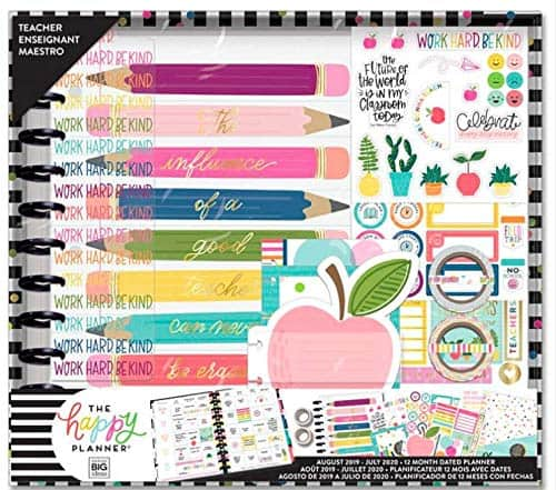 A teacher planner is a number one on a list of teacher supplies.