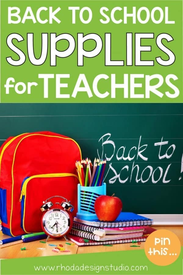 The best back to school teacher supplies. Which ones are you adding to your school supply list? Flair pens? Personal laminator? or an HP Insta Printer?