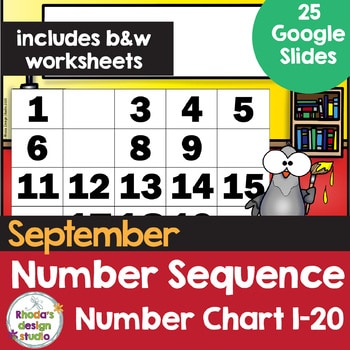 number sequence number chart 1-20