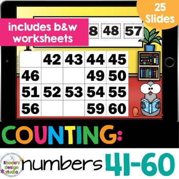 number chart 41-60