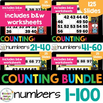 number charts for numbers 1-100