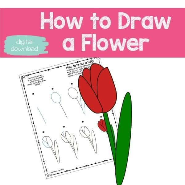 Learn how to draw a flower with this step by step tutorial.