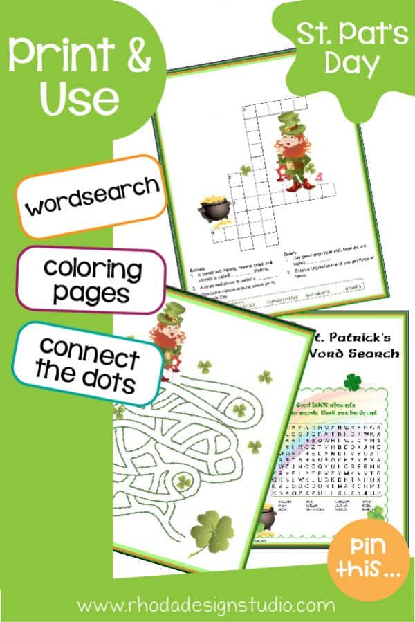 A fun packet of St. Patrick's day activities for kids. Great for a March activity or those blustery days of March.